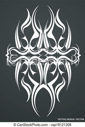 Tribal tattoo design - csp18121308
