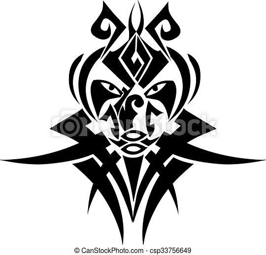 Tribal Tattoo Design Vintage Engraving Tribal Tattoo Design