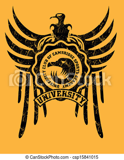 tribal tattoo eagle badge vector art - csp15841015