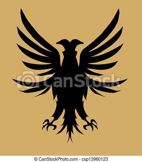 tribal tattoo eagle shield vector art - csp13960123