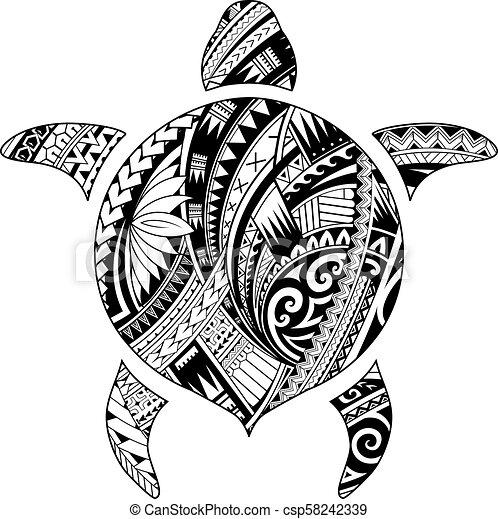 d776ec52820d3 Tribal tattoo for aboriginal turtle shape. Maori style tattoo shaped ...