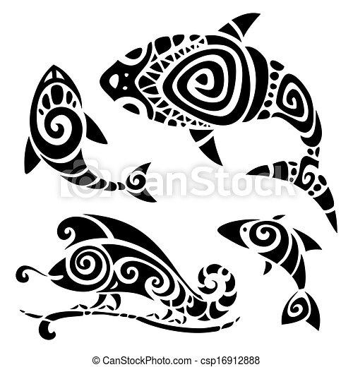 Tribal tattoo set. - csp16912888