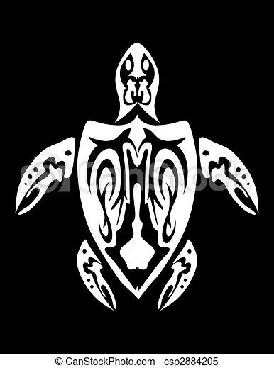 Tribal turtle - csp2884205