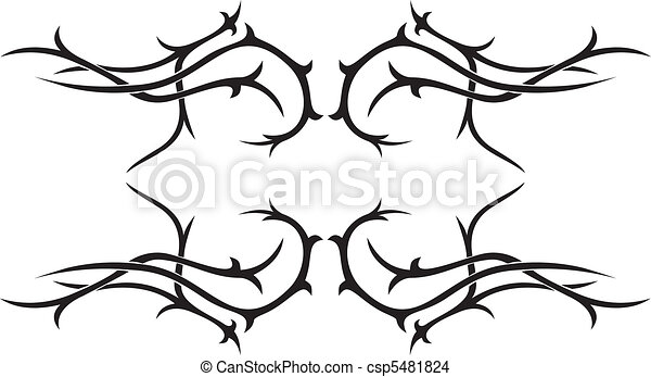 Tribal vector tattoo - csp5481824