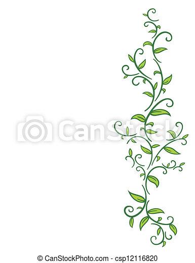 tribal, videira, folhas - csp12116820