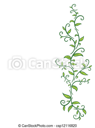 tribal vine with leaves tribal drawing of green vines with leafs
