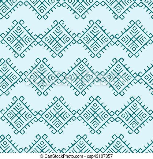 Tribal vintage pattern - csp43107357