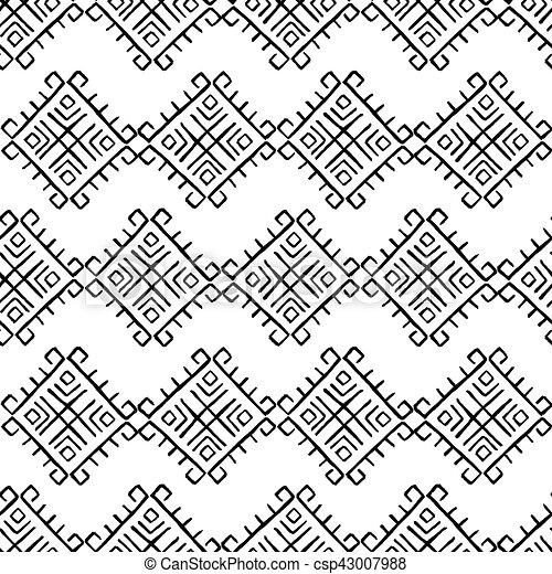 Tribal vintage pattern - csp43007988