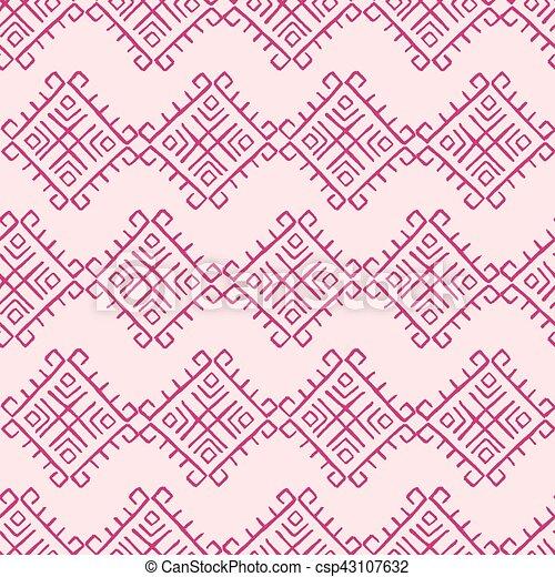 Tribal vintage pattern - csp43107632