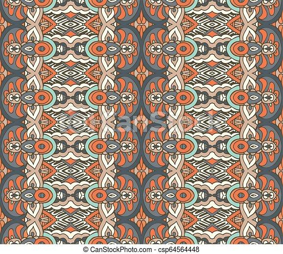 Tribal vintage seamless pattern ornamental. - csp64564448
