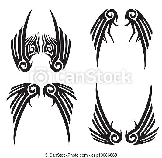 tribal wings rh canstockphoto com clipart tribal gratuit clipart tribal gratuit