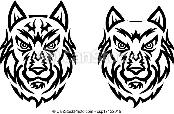 Tribal wolf tattoo - csp17122019