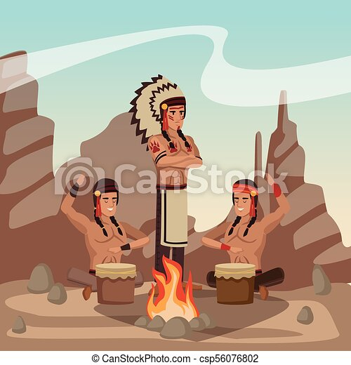 Tribu india americana - csp56076802