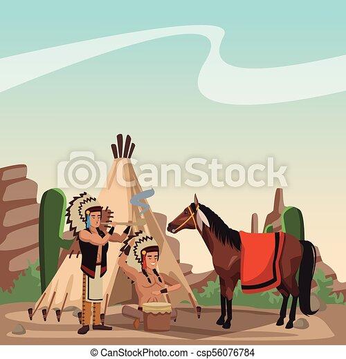 Tribu india americana - csp56076784