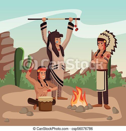 Tribu india americana - csp56076786