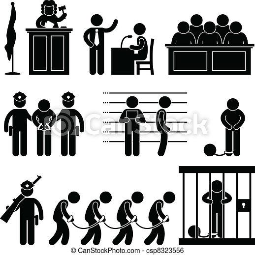 Abogado de la corte de la cárcel - csp8323556