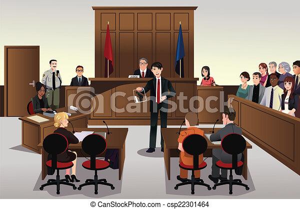 Escena del tribunal - csp22301464