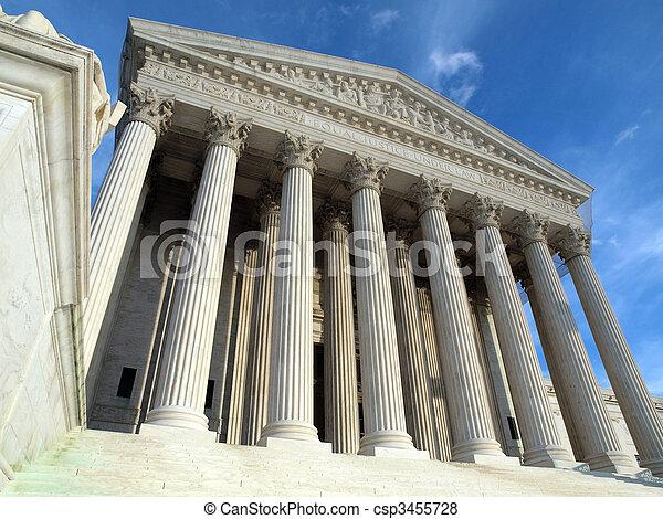 tribunal, suprême, washington dc - csp3455728