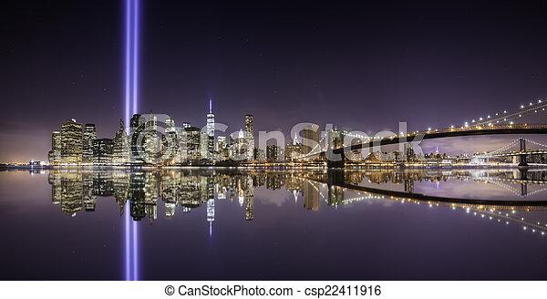Tribute lights pano - csp22411916
