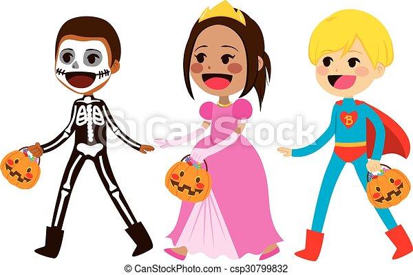 Trick Or Treat Children Walking - csp30799832