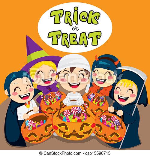 Trick Or Treat Kids - csp15596715