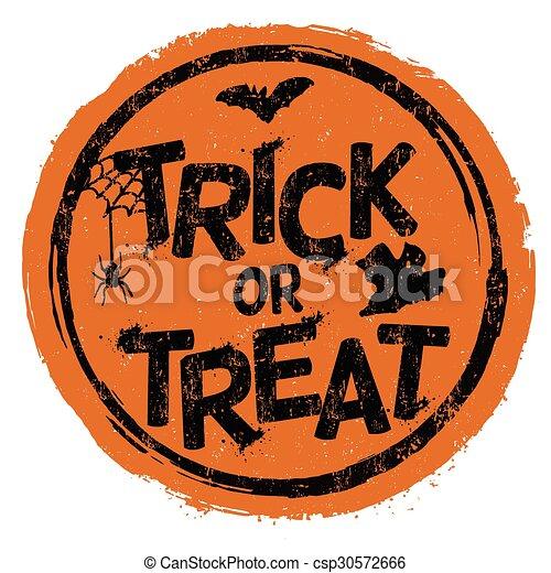 Trick or treat stamp - csp30572666