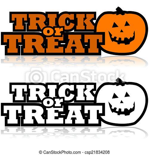 Trick or treat - csp21834208