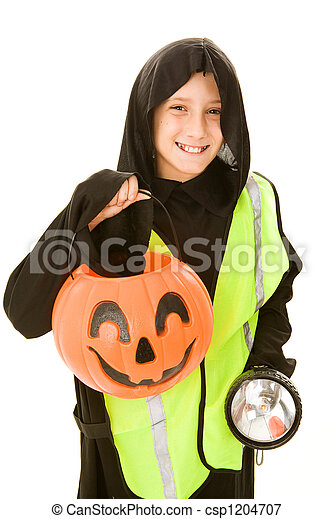 Trick Or Treating Safely - csp1204707