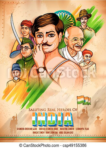 Tricolor india background with nation hero and freedom fighter for tricolor india background with nation hero and freedom fighter for independence day csp49155386 thecheapjerseys Gallery