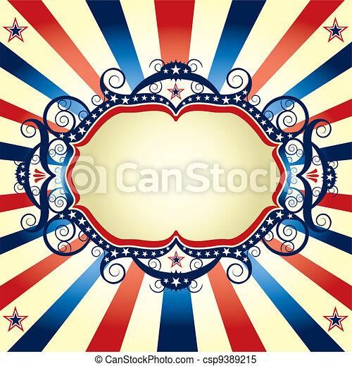 Tricolor US frame - csp9389215