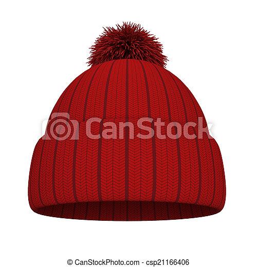 tricotado, chapéu - csp21166406