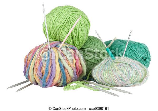 tricotando, equipamento - csp9398161