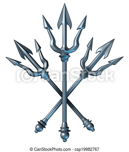 Trident Concept Trident Concept As A Group Of Metal Spears Crest
