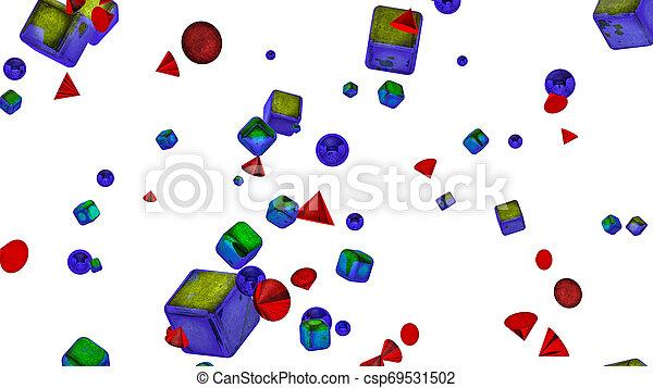 tridimensionnel, arrière-plan., rendre, forme, blanc, 3d - csp69531502
