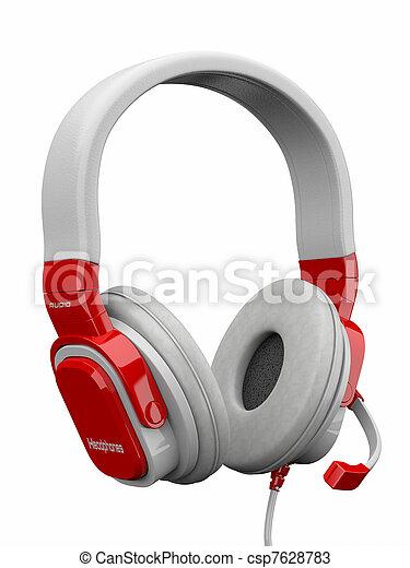 tridimensionnel, headphones., 3d - csp7628783