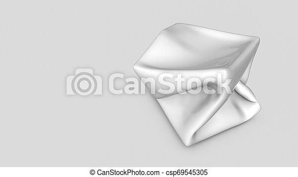 tridimensionnel, render, résumé, forme., blanc, 3d - csp69545305