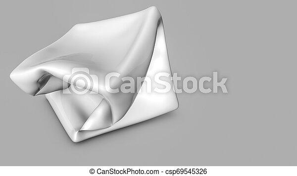 tridimensionnel, render, résumé, forme., blanc, 3d - csp69545326