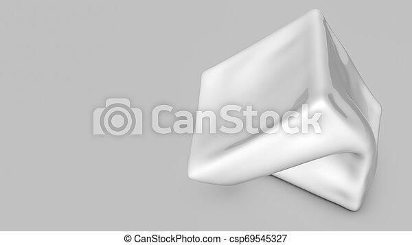 tridimensionnel, render, résumé, forme., blanc, 3d - csp69545327