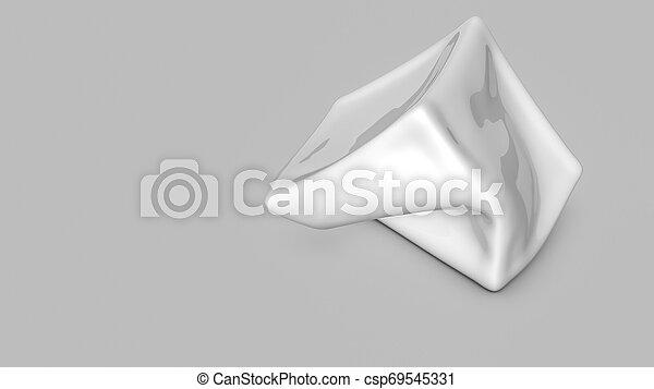 tridimensionnel, render, résumé, forme., blanc, 3d - csp69545331
