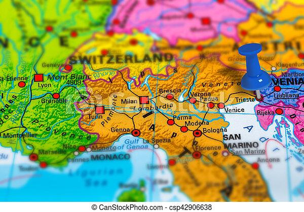 Monaco Italien Karte.Triest Italien Landkarte