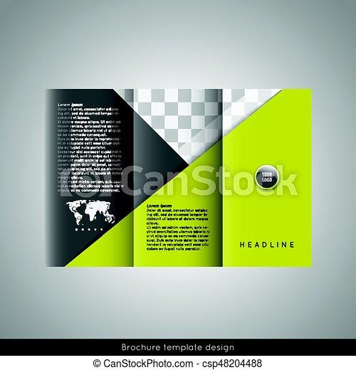 Trifold Business Brochure Template Design Stock Vector