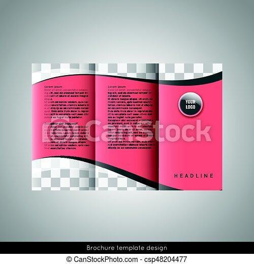 Trifold business brochure template design stock vector friedricerecipe Gallery