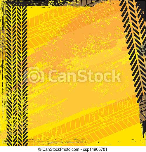 trilhas pneu - csp14905781