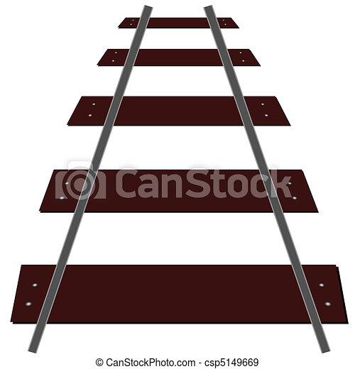 trilhas, trem, ilustração - csp5149669