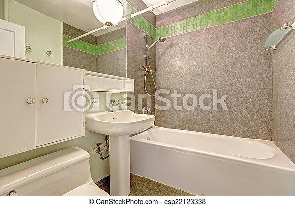 Trimmen Badezimmer Wand Grau Grun Fliese Trimmen Wand Grau