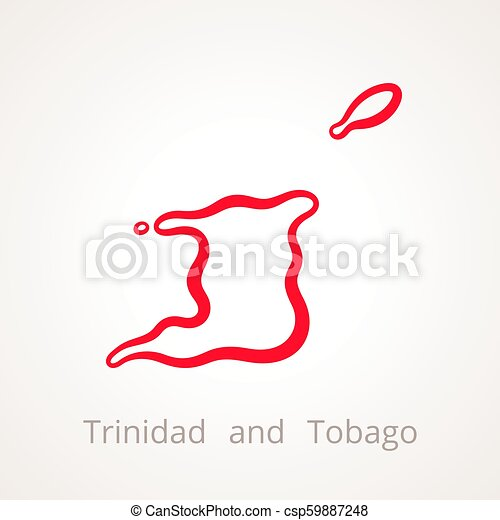 Trinidad and tobago - outline map. Outline map of trinidad and ...