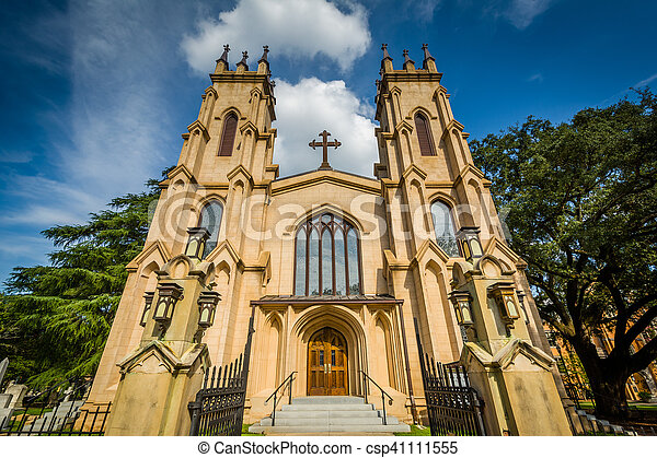 Trinity Episcopal Cathedral, in Columbia, South Carolina. - csp41111555