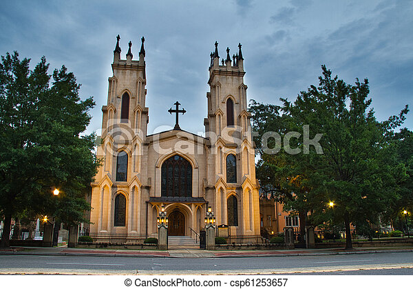 Trinity Episcopal Cathedral, in Columbia, South Carolina. - csp61253657