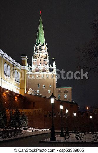 Trinity tower at night - csp53339865