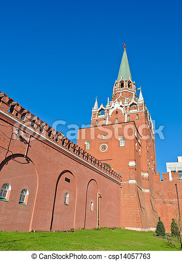 Trinity Tower of Moscow Kremlin, Russia - csp14057763